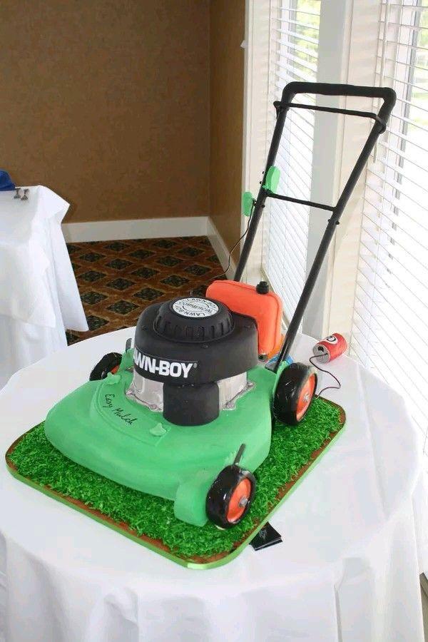 11 Best Lawn Mower Cake Ideas Images On Pinterest Lawn