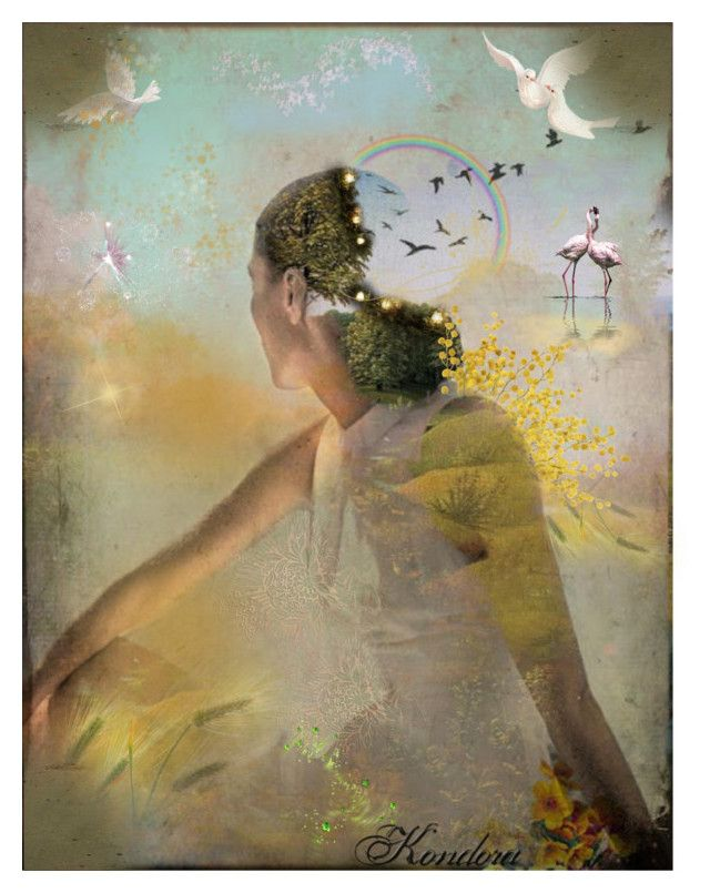 Open your mind and let it understand and respect the majesty of nature by kondora on Polyvore featuring art