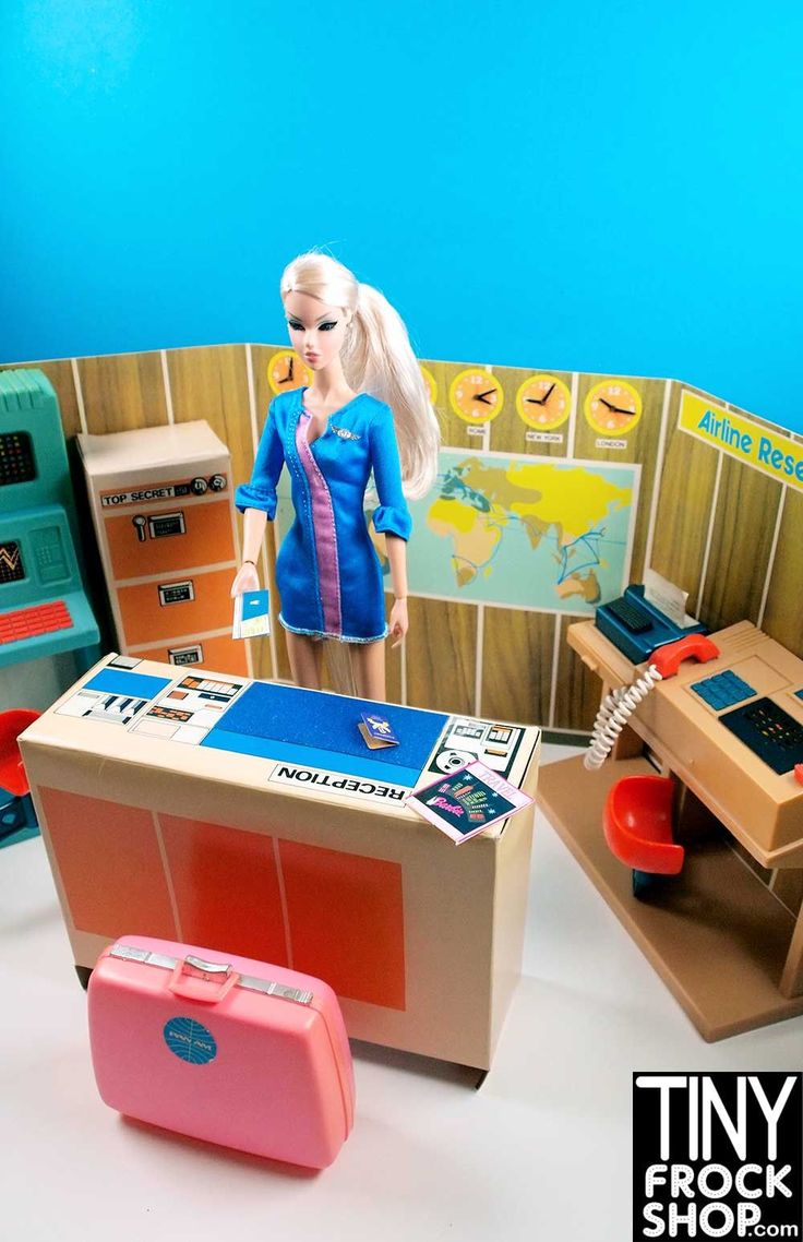 Barbie 1970s Vintage Sears Airline Reservation Center Set - HARD TO FIND available at Tinyfrockshop.com