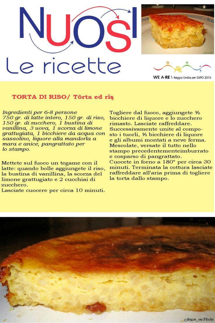 #NoiLeRicette | TASTE REGGIO EMILIA   La torta di riso si diffuse nel reggiano nei primi del '900, quando le giovani contadine si trasferirono nelle risaie della Bassa, per lavorare. Il riso costituiva gran parte della retribuzione e divenne una componente quotidiana della loro dieta. Questo dolce si caratterizza per l'estrema semplicità, essenzialità degli ingredienti e l'elevato potere nutritivo.  #reggioexpo2015 #noiamiamomangiarbene #TasteThePlanet #TasteReggioEmilia #food #cibo #ricette