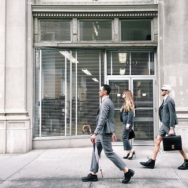 The Thom Browne Team Takes To Streets Of Manhattan With CFDA Fashion Instagrammer