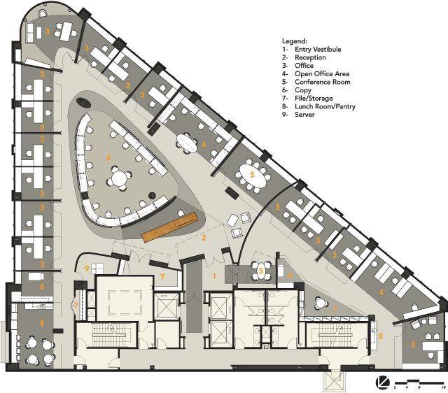 Office Furniture : ICrete. Diagonals And Curves. Floorplan