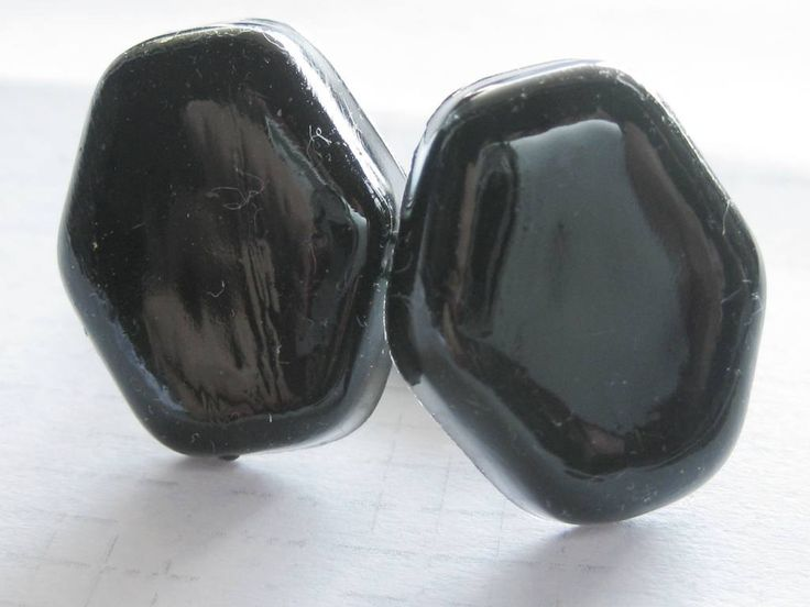 Black hexagonal resin Cuff Links by mariapsaltis on Etsy