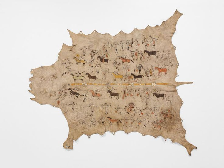 Early #PlainsIndians used art to communicate cultural & spiritual meanings. See works on view: http://met.org/1J7nJGL