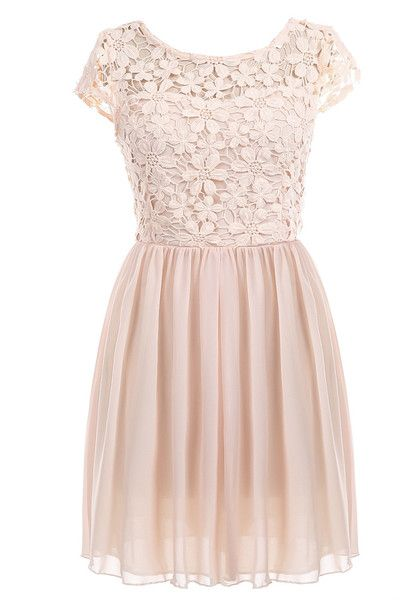Crochet Lip Cutout Back Dress