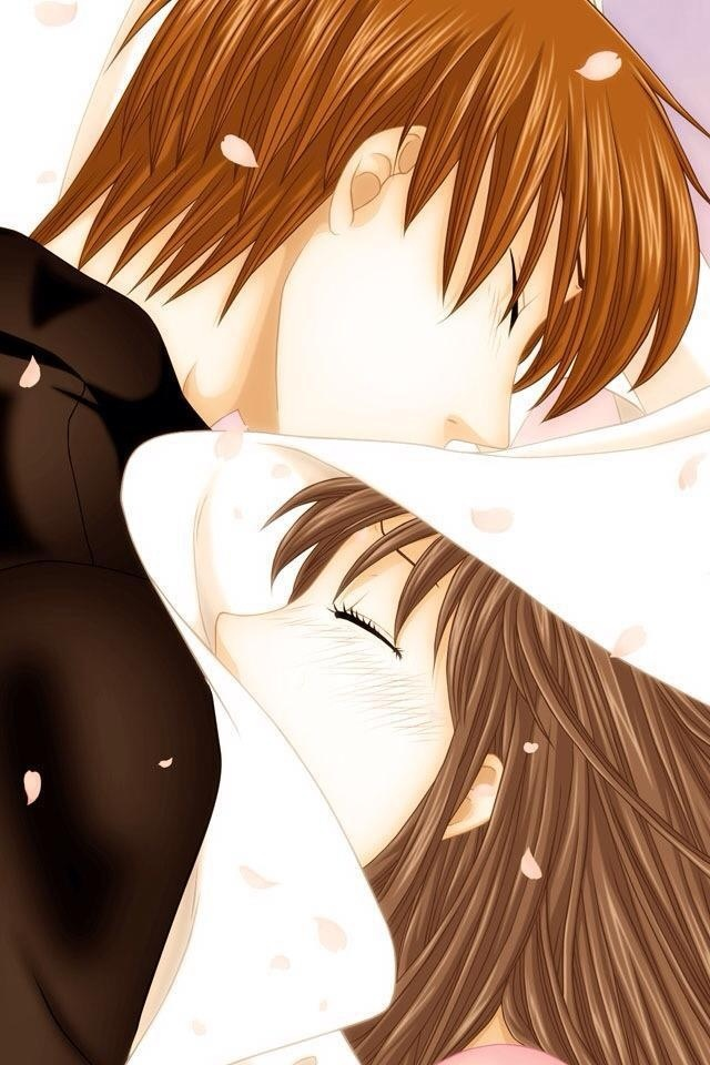 <3 <3 <3 <3 Fruits Basket- Tohru x Kyo <3 <3 <3 <3 <3 AHH ONE OF MY FAVORITE PARTS IN DA MANGA!!! MY FEELS!!!! <3 <3 <3