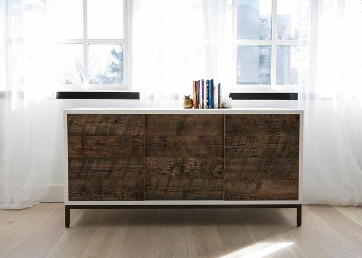Reclaimed Wood Storage Unit | Modern wood furniture by Vancouver based Union Wood Co.