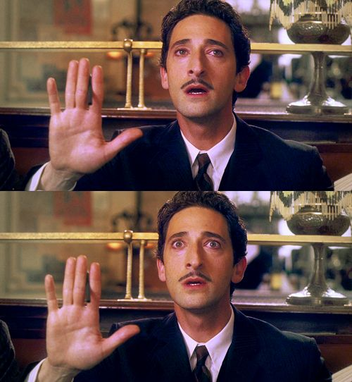 """I see... a RHINOCEROS!"" Adrien Brody as Salvador Dalí in ""Midnight in Paris."""