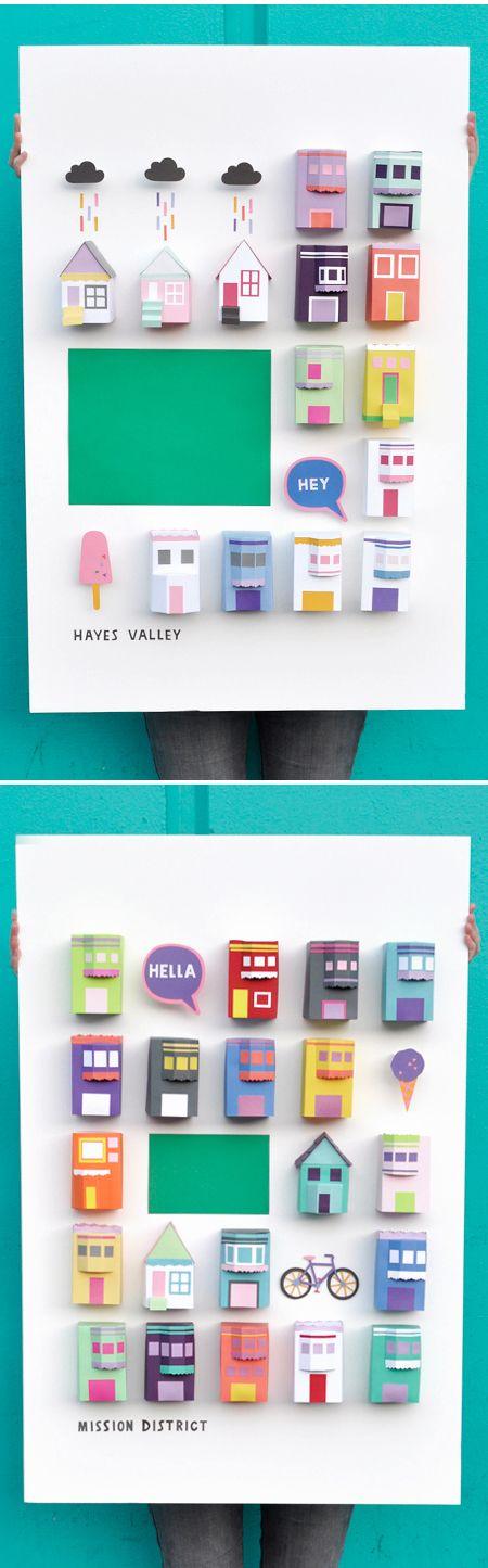 Chloe Fleury :: 3d paper neighbourhoods {San Francisco}