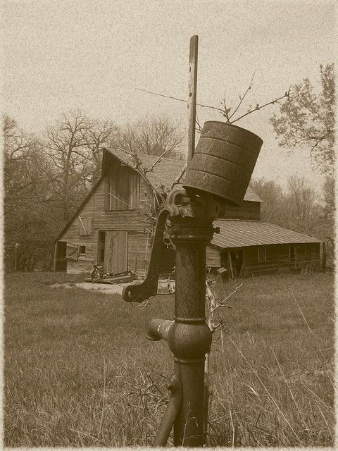 Old Barn & Old Well Pump