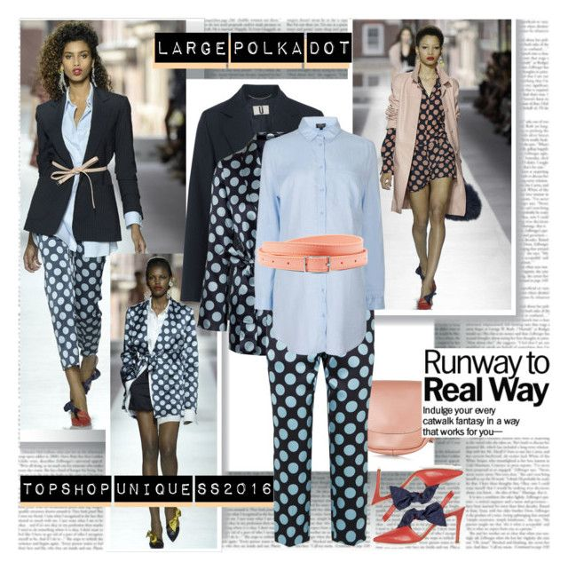 Large Polka Dot Trend by stylepersonal on Polyvore featuring polyvore, Topshop, Topshop Unique, fashion, style, clothing, topshop, runwaytrend and spring2016