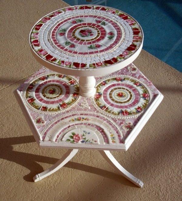 мозаика из битой посуды