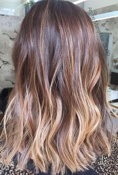 walnut ombre brunette hair color