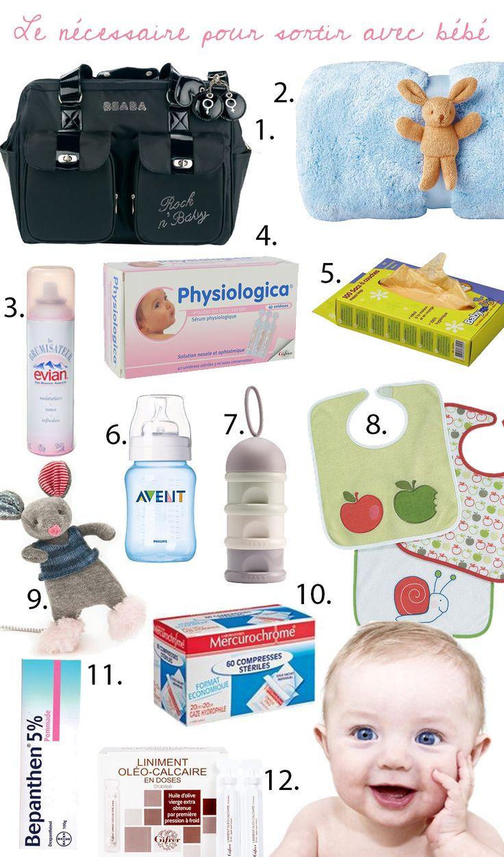 Les essentiels pour sortir avec bébé…