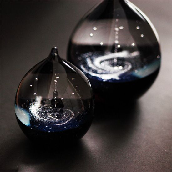 Stereoscopic glass works by FUSION FACTORY, Japan