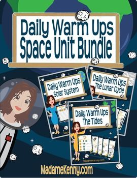 Grade 6 Science Space Unit. These daily warm ups are a great for bell work, entry-exit slips, or a quick assessment.