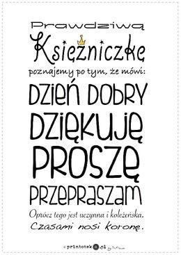 Zwroty grzecznościowe - wersja księżniczka - Printoteka.pl