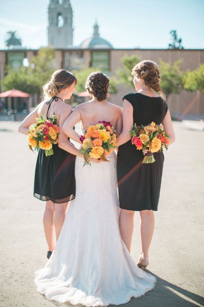 Stunning bouquets. The NotWedding San Diego - Eastern Ikat Theme - Brooke Photography