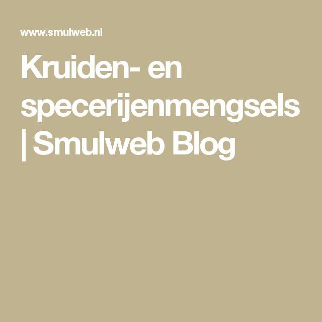 Kruiden- en specerijenmengsels | Smulweb Blog