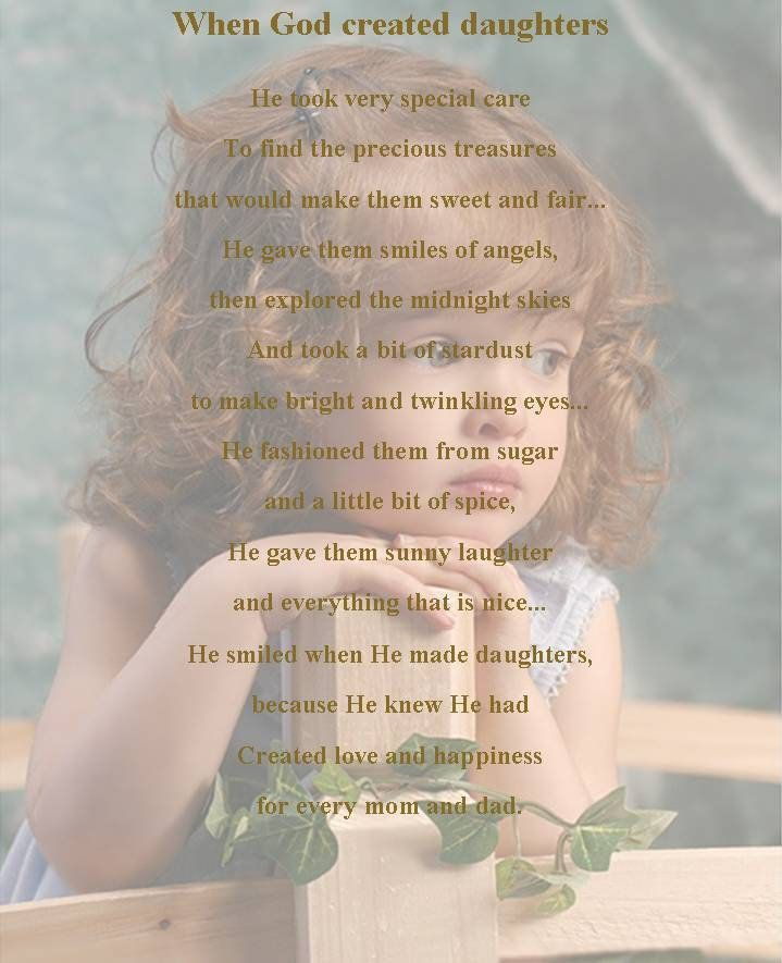 For Daughter Quotes: 17 Best Ideas About Daughter Poems On Pinterest