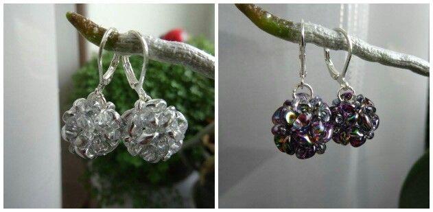 Lovely superduo beaded earrings :)