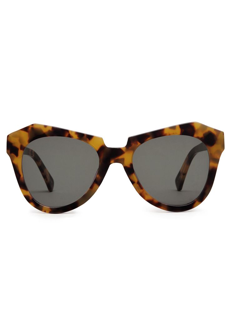 """Karen Walker's the """"Number 1"""" pair of sunglasses in tortoiseshell. Summer isn't the same without Karen Walker and Thierry Lasry sunnies."""