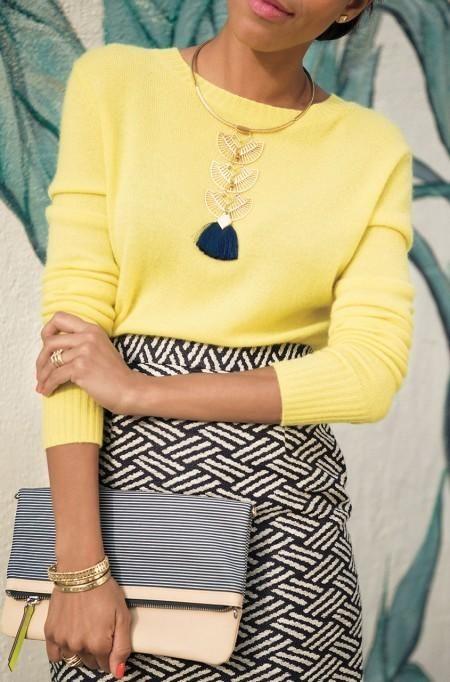 Gold Aida Tassel Necklace | Stella & Dot