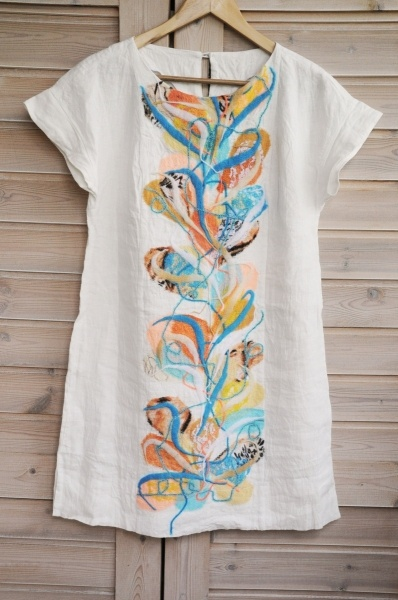 """Linen clothing, new Yaga linen summer clothing """"Summer cottage party"""""""