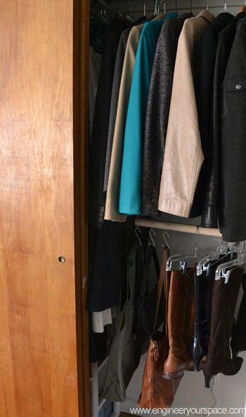 DIY double hang closet rod
