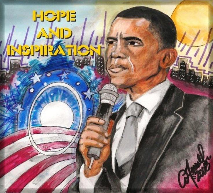 Amazing World Of Gumbo: Barack Obama By Artist Amanda Ferrell-Hale