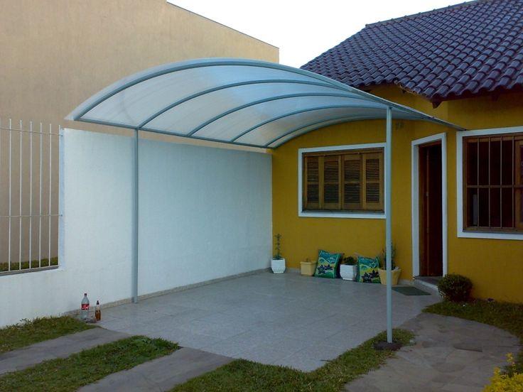 25 melhores ideias de cobertura de policarbonato no - Toldos para patios exteriores ...
