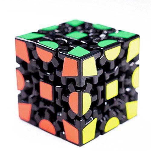DE-Magic Combination 3d Gear Cube I Generation Black Painted Stickerless Twisty Puzzle