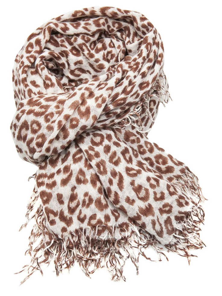 add oomph to any outfit with this leopard scarf.