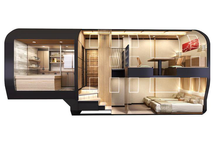 Japan S Rediculously Futuristic Hotel Trains Luxury Train Luxury Hotel Luxury Cruise