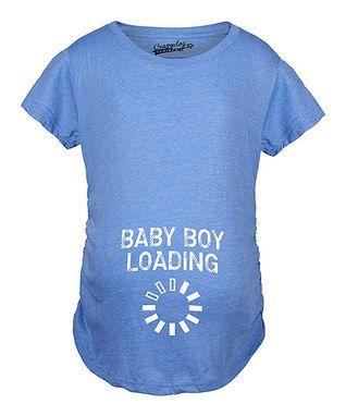 Heather Royal 'Baby Boy Loading' Maternity Tee