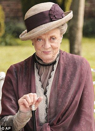 Dame Maggie Smith as the Dowager Countess Grantham in Downton Abbey