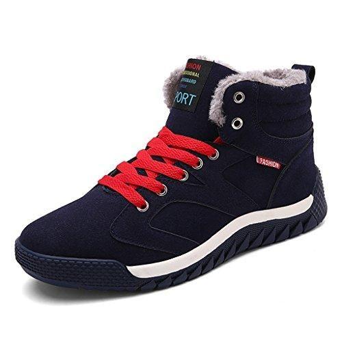 Oferta: 45.99€ Dto: -30%. Comprar Ofertas de SITAILE Hombre Otoño Invierno Botines Calentar Botas De Nieve Anti-deslizante Lazada Zapatos Botas de Trabajo,azul,40 barato. ¡Mira las ofertas!