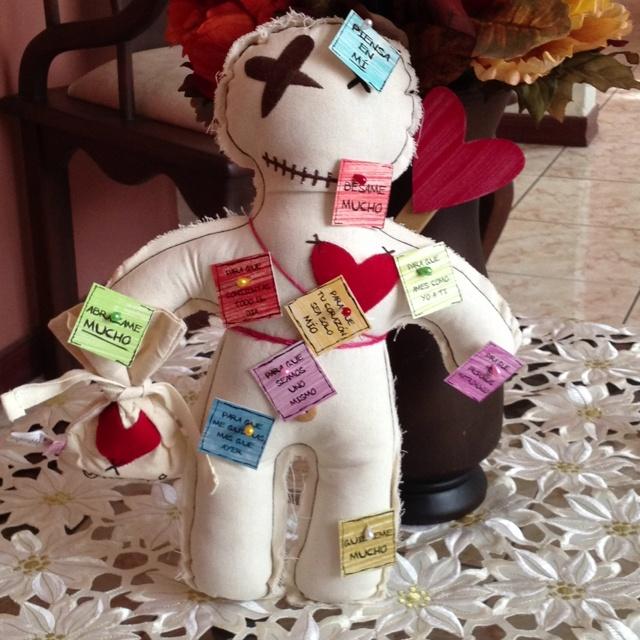 El vudu del amor! Un regalo muy creativo de mi amor!