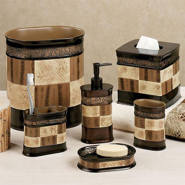 Zambia Bath Accessories Brown