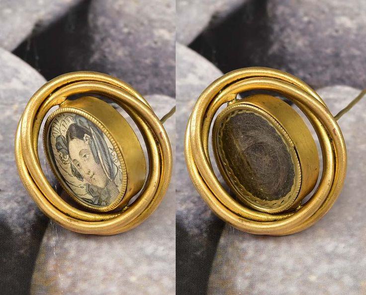 Antique Gold Swivel Victorian Locket Brooch Mourning Jewelry  #Mourning #Locket #Jewelry #Gold #Brooch #Antique #Victorian #Swivel #Swiss #Suffragette