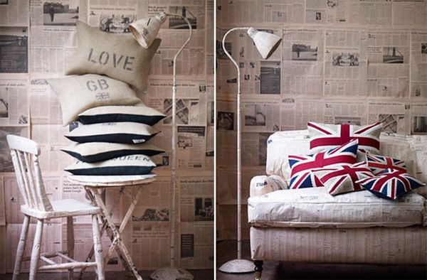 Wallpaper for your walls made from Newspapers