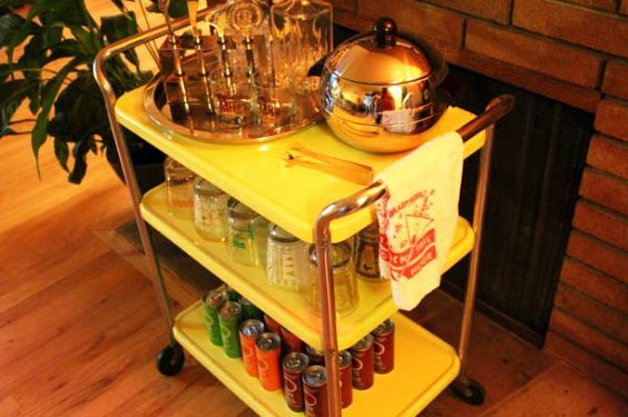 drink cart Let's Get Mad! How to Throw a Swanky Mad Men Cocktail Party