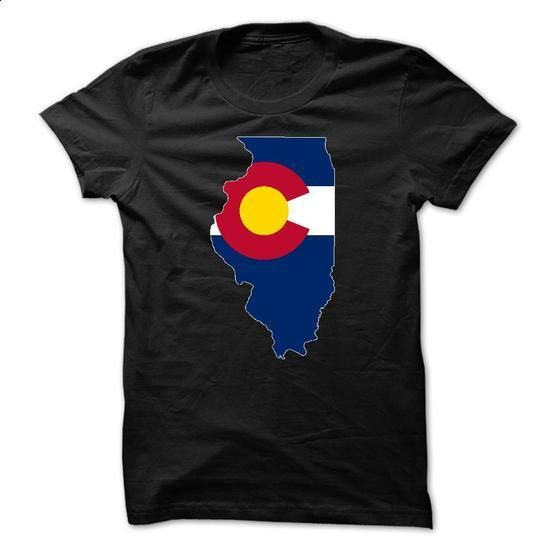 Coloradan in Illinois - #hoodie schnittmuster #hoodie freebook. CHECK PRICE => https://www.sunfrog.com/States/Coloradan-in-Illinois.html?68278