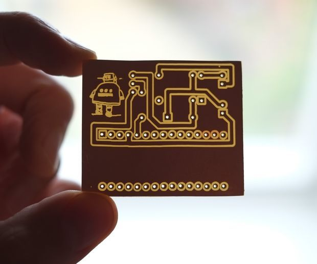 Picture of PCB designing and isolation milling using only free Software