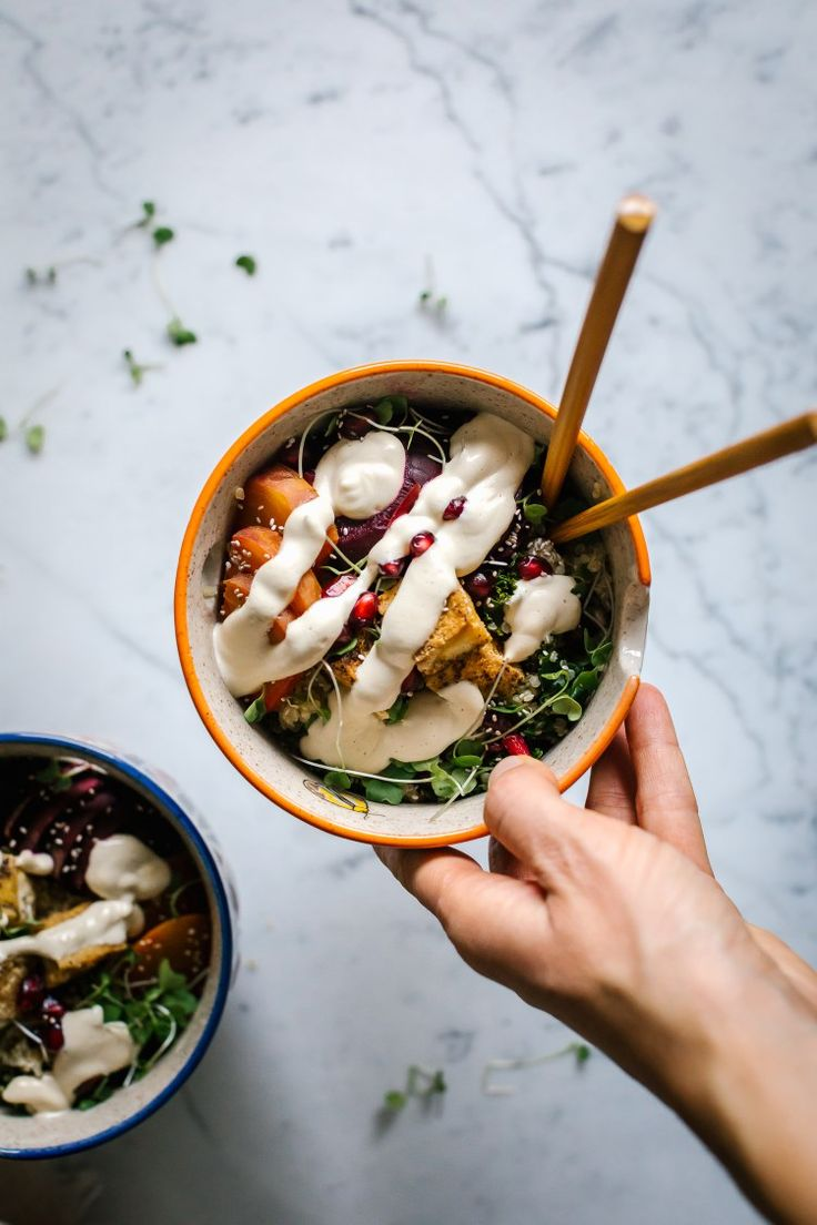 A Hippie Winter Bowl w/ Tangy Cashew Sauce by Faring Well