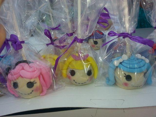 Cake pops at Lalaloopsy Party #lalaloopsy #cakepops  Lalaloopsy Party ...
