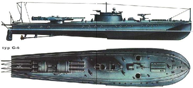 Rusko / SSSR - Motorové torpédové čluny - TYP G 6