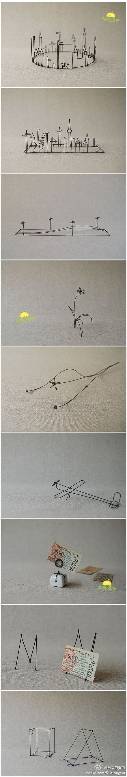 love these, really wanna try making one of my drawings into a wire sculpture