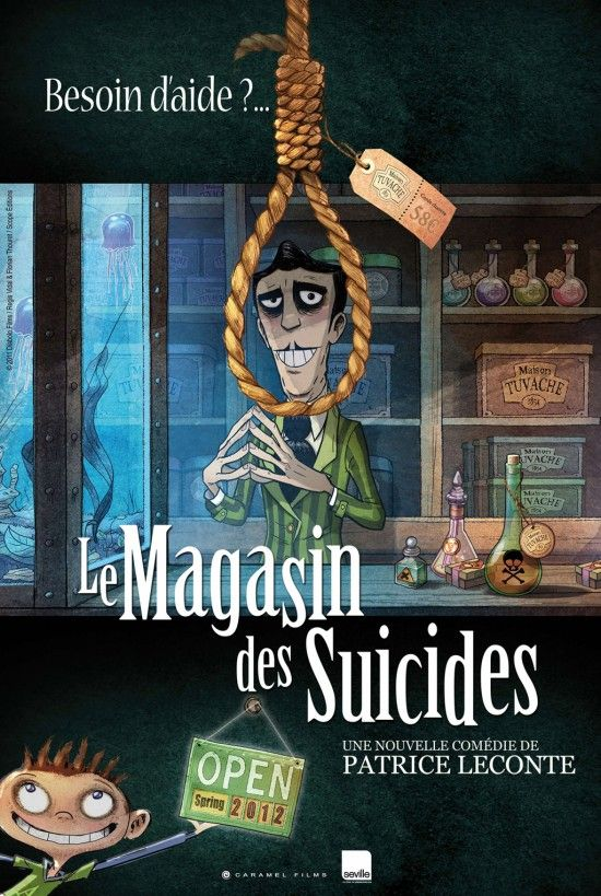 "** Check this one out & use caution. ** Le Magasin des Suicides"" (The Suicide Shop), an animated dark comedy written and directed by Patrice Leconte"