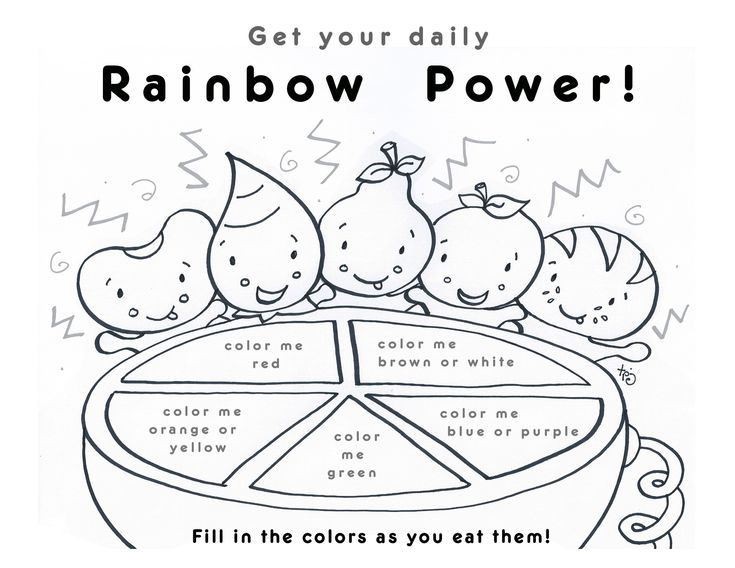 20 best Nutrition Education for Kids images on Pinterest - rainbow template